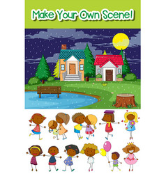 make your own scene vector image