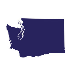 Map us state washington vector