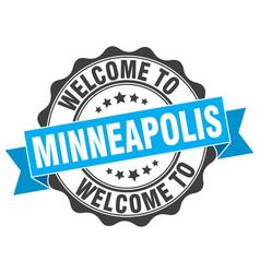 Minneapolis round ribbon seal vector