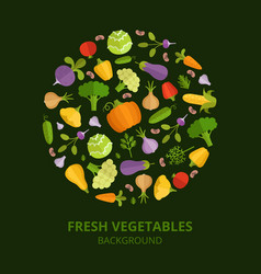Natural foods vegetables vector
