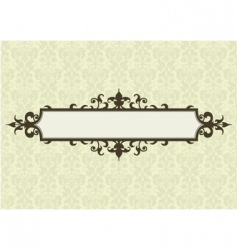 ornate frame and floral pattern vector image