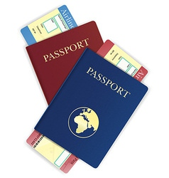 passport 06 vector image