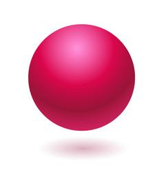 pink glossy ball vector image