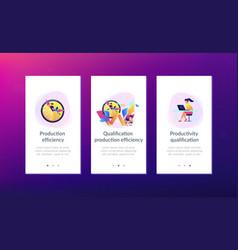 Productivity app interface template vector