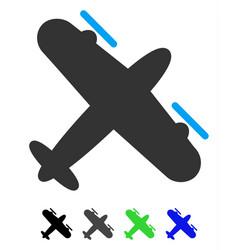 Propeller aircraft flat icon vector