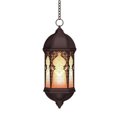Realistic ramadan lantern vector