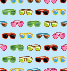 Retro sunglasses seamless pattern vector