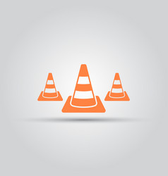 road cone isolated colored icon vector image