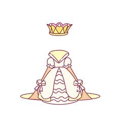 royal dress with crown vector image