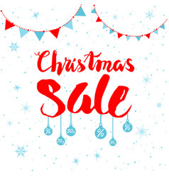 sale winter and flags vector image