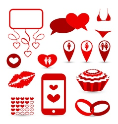 Set infographic elements for valentine or wedding vector