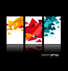 set of 3 banner design templates with abstract vector image