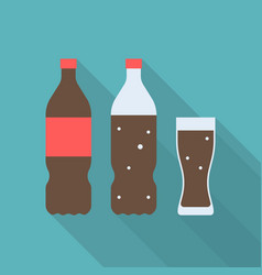Set of soft drink icon vector