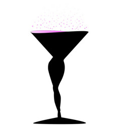 Sexy champagne glass vector
