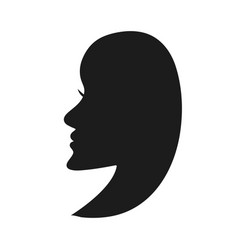 Silhouette a beautiful young womans face vector