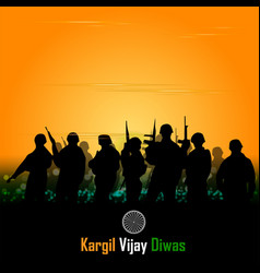 Silhouettes soldiers abstract concept vector