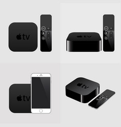smart tv with remote and smartphone modern vector image