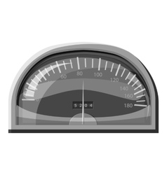 Speedometer for cars icon gray monochrome style vector