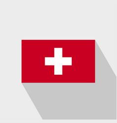 Switzerland flag long shadow design vector