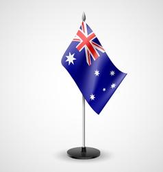 Table flag australia vector