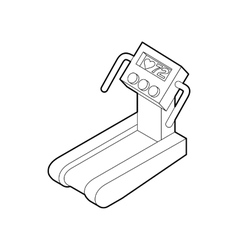 Treadmill running icon outline style vector
