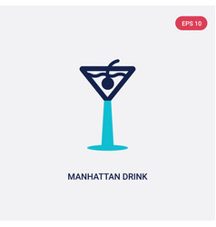 two color manhattan drink icon from drinks vector image