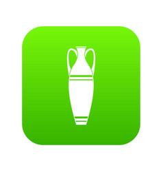Vase icon green vector