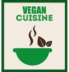 vegan menu vector image