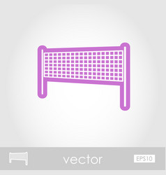 Volleyball net beach sport icon summer vacation vector