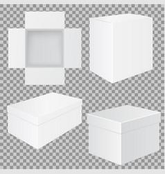 white box set of mockups vector image
