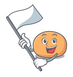 With flag mochi mascot cartoon style vector