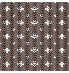 Abstract knitted seamless pattern background vector image