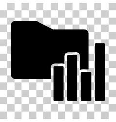 Charts folder icon vector