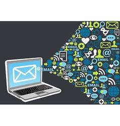 Email marketing icon splash concept vector image