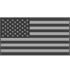 US flag grey vector image