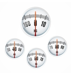 Bathroom Scale Display Set vector image