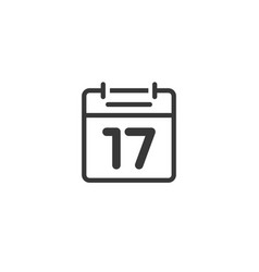 calendar icon line isolated outline black vector image