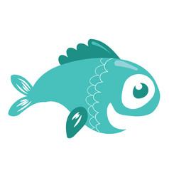 cartoon fish funny sea fish vector image
