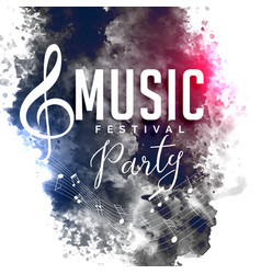 Grunge style music party festival flyer poster vector