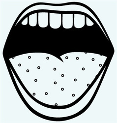 Screaming mouth vector image