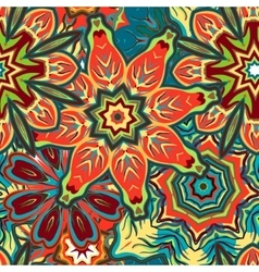 Unique hand drawn abstract floral vector image vector image
