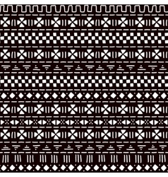 Black and white striped ornament traditional vector image