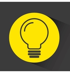 Bulb with gear isolated icon vector