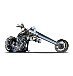 Cartoon Motorbike vector image vector image