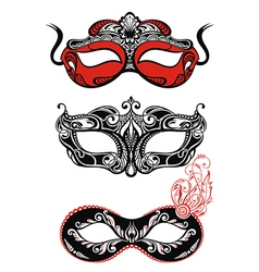 Festive masks silhouette vector image