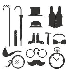 Gentlemens vintage stuff design elements collectio vector