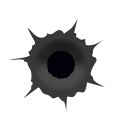 modern bullet hole on white background vector image