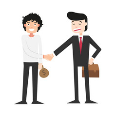 shaking hands with businessman vector image