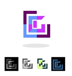 Abstract company logo and apps icon vector image vector image