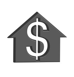 building for sale costs money vector image vector image